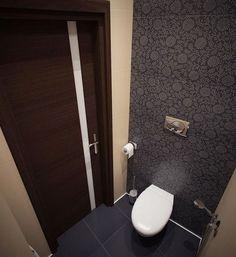 дизайн туалета в сером цвете фото