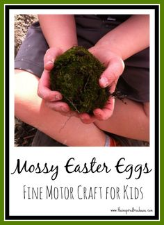 Sometimes the best holiday decorations are the ones made by your kids.  With spring just arriving (FINALLY!), we thought it would be fun to get outside and get messy to make a great Easter centerpiece, targeting fine and sensory motor skills in the process.  #finemotor #easteractivities #spring #nature