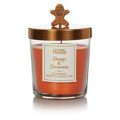 George Home Decorative Jar Candle - Orange & Cinnamon | Candles & Holders | George at ASDA