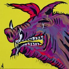 Muk-Muk-Fine-Art-Adam-Cullen-Hill-End-Pig -- More pix of Adam Cullen's at www.JasonAthen.com Tigger, Australian Artists, Fine Art, Disney Characters, Art Drawings, Drawings, Painting, Art, Character