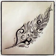Body – Tattoo's – Feather tattoo I drew. Doodle Art 2017 trend Body – Tattoo's – Feather tattoo I drew. Future Tattoos, New Tattoos, Body Art Tattoos, Tatoos, Unique Tattoos, Tattoo Drawings, Tatoo Henna, Tatoo Art, Lace Tattoo
