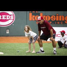 Johnny Bench, Hall of Famer and former MLB catcher for the Reds, works with kids Wednesday morning in a youth baseball clinic. To kick-off All-Star week, Bank of America partnered with the Boys and Girls Club of Greater Cincinnati, MLB and the Cincinnati Reds to hold a baseball youth clinic at the P&G Cincinnati MLB Urban Youth Academy. The Enquirer/Madison Schmidt