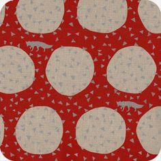 Kokka Echino - Fox & triangles red