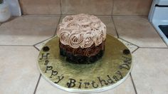Ombre Rosette Chocolate Cake with a chocolate cream cheese flavored butter cream ,Yess yummo!!