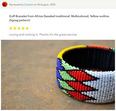 Beaded jewellery from Cape Town, South Africa by akwaabaAfrica Zig Zag Pattern, Beaded Jewelry, Etsy Seller, Africa, Shops, Creative, Tents, Pearl Jewelry, Retail