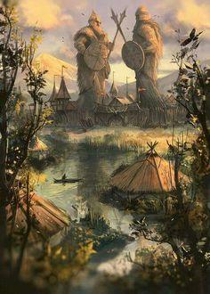 Fantasy land Source by dacarroa Fantasy City, Fantasy Places, High Fantasy, Medieval Fantasy, Fantasy World, Landscape Concept, Fantasy Landscape, Landscape Art, Fantasy Concept Art