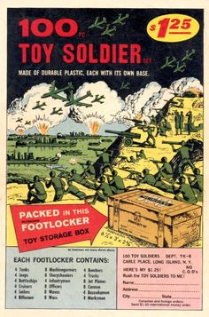 comic ad....100 toy soldiers in footlocker.....what a ripoff!!!!