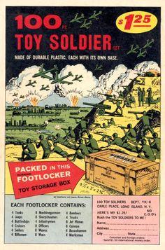 100 Toy Soldiers in footlocker