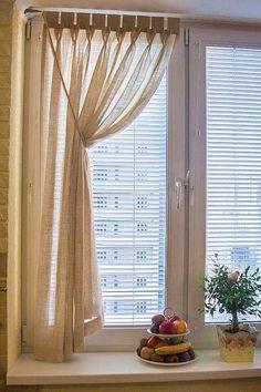 Купить Короткие шторы с ручной складкой для кухни - гипоаллергенный, шторы для кухни, для дома и интерьера, в квартиру