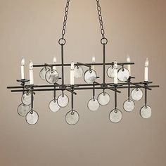 "Currey and Company Sethos 8-Light 42"" Wide Chandelier"