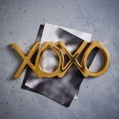 St. Jude Brass Word Object - XOXO