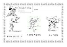 ESOS LOCOS BAJITOS DE INFANTIL: MAS FICHAS DEL PROYECTO LOS CASTILLOS Medieval Knight, Diagram, Map, World, Knights, Castles, Preschool Education, Medieval Castle, School Stuff