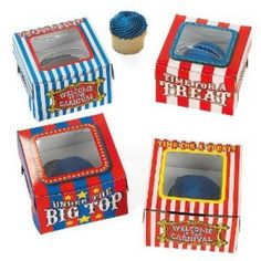 Carnival Cupcake Boxes | 12ct for $5.40 in Carnival/Circus - Party Themes