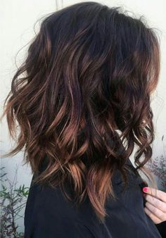 layered brunette lob hair ideas for women - Long Bob Frisuren Brunette Lob, Brunette Bob Haircut, Lob Hairstyle, Hairstyle Ideas, Makeup Hairstyle, Curly Lob Haircut, Haircuts For Wavy Hair, Choppy Bob Hairstyles, Fade Haircut