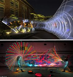 This is apparently called light graffiti. Especially love the top one