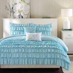 Light Blue Twin/Twin XL 4 Piece Comforter Set w/ 1 Shams & 2 Pillows - Quality House