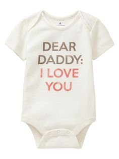 Gap | Favorite Mommy & Daddy love bodysuit