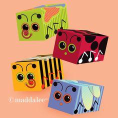Paper Arts, Party Printables, Invitations, Cards, Tutorials, Recipes: Ladybug & Butterfly Box DIY Fun!