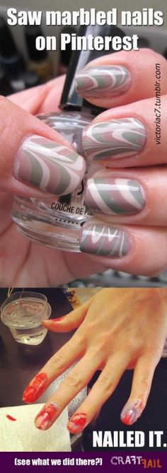 Marbled nails...uh nailed it?