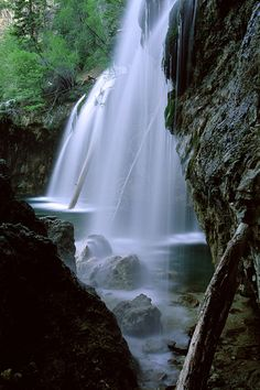Photograph of the waterfalls at Hanging Lake near Glenwood Springs. I love the hike up to the lake.
