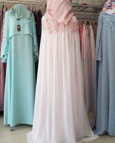 Muslim Wedding Dresses, Muslim Dress, Hijab Dress, Wedding Abaya, Modern Hijab Fashion, Hijab Fashion Inspiration, Abaya Fashion, Fashion Outfits, Moslem Fashion