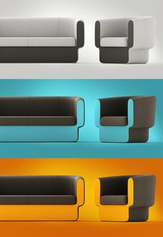Pack it with color! Ulee - furniture set - project 2008 by Redo Design Studio , via Behance