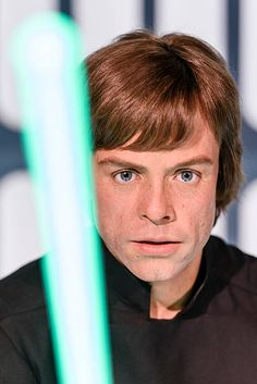 A wax figure of the actor Mark Hamill as the Star Wars character Luke Skywalker is displayed on the occasion of Madame Tussauds Berlin Presents New...