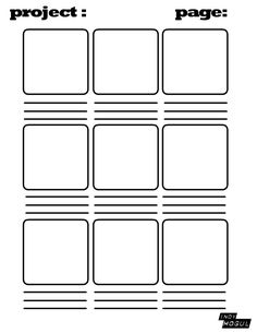 Blank storyboard for kids planning movies