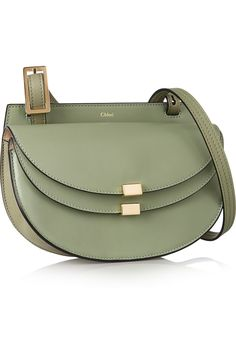 Chloé | Georgia mini leather shoulder bag | NET-A-PORTER.COM