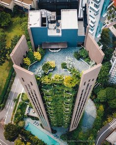 Residential Architecture, Amazing Architecture, Esoteric Art, Singapore, Scenery, Tower, Real Estate, Interior Design, Architecture