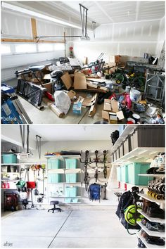 A Step by Step Guide to Planning a Garage Organization Project, Home Organization organizing, Garage Organization Tips, Garage Storage Solutions, Diy Garage Storage, Organizing A Garage, Storage Systems, Garage Shelving, Basement Storage, Attic Storage, Organizing Ideas