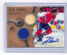 Guy Lafleur 2005-06 SP Game Used NHL Game Gear Dual Jersey & Stick Auto #8/10 | eBay