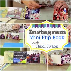 CREATE TO REMEMBER WITH HEIDI SWAPP: INSTAGRAM BOOK-GREAT GIFT IDEA Join Heidi today as she shares a great, not pink or glittered gift idea on my craft channel.com