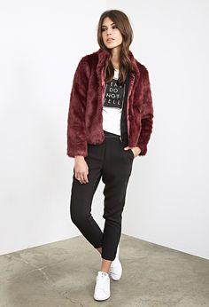 Boxy Faux Fur Coat - Jackets & Coats - Coats - 2000138743 - Forever 21 EU