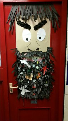 Mr Twit beard. Could use bin bags and wool for the beard and get the kids to draw disgusting things to put in it.