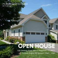 Open House: Join is this Sunday, August 6th from 10am-12pm at 638 Danbury Rd Unit 17 Ridgefield CT 06877.  For more info, or like to schedule an appointment contact list agent, Lisa Brown Realtor® @ The Brokerage of New England. Direct 203-733-1613