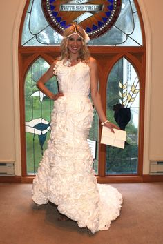 db796d591367 Fashion Friday  Stunning toilet paper wedding gowns -- really