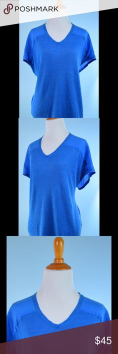 EILEEN FISHER blue silk back tunic top Small EILEEN FISHER blue silk back tunic, Linen front tunic top size Small, great condition, V neck, length 24 inches, bust 40 inches Eileen Fisher Tops
