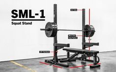 The SML-1 Monster Lite Squat Stand is a unique hybrid of the two most compact squat stands from Rogue's S-Series and standard Monster Series. Get it here.