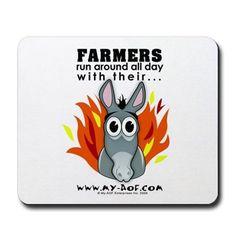 Farmers Mousepad on CafePress.com
