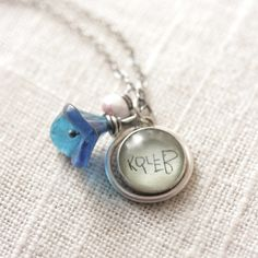 Your Child's Handwriting  12 mm charm  Perfect by J4JCharms, $14.00