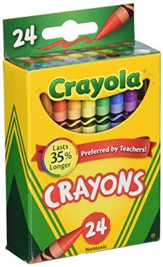 Kids' Crayons - Crayola Box of Crayons NonToxic Color Coloring School Supplies 24 Count 3 Pack 5200243 ** Be sure to check out this awesome product.