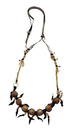 De Petra Brass and leather necklace