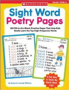 Sight Word Poetry Pages: 100 Fill-in-the-Blank Practice Pages - Great way to teach weekly sight words and incorporate poetry into your classroom!