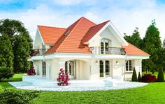 Single Floor Home Design Front 4 Bedroom House Designs, Three Bedroom House Plan, Bungalow Style House, House Construction Plan, House Design Pictures, Attic House, House Doors, Best House Plans, Simple House