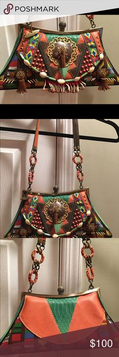 Authentic Mary Frances shoulder strap bag Beautifully beaded Mary Frances handbag . Amazing colors, beading, stitching - typical MF style. Just in time for the holidays or for yourself. Mary Frances Bags Shoulder Bags