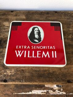 Willem II cigarette tin tin box cigarette Virgina cigarettes tobacco senoritas / Holland by WifinpoofVintage on Etsy