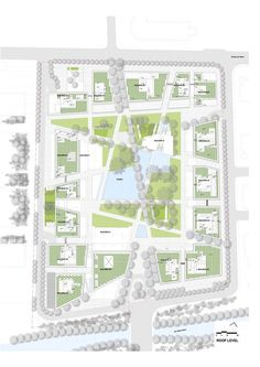 Renzo Piano Building Workshop - Projects - By Type - JNBY Headquarters project Architecture Site Plan, Landscape Architecture, Landscape Design Plans, Urban Landscape, Parque Linear, Lanscape Design, Masterplan, Urban Design Plan, Design Exterior