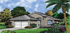 Mediterranean House Plan with 1118 Square Feet and 3 Bedrooms from Dream Home Source | House Plan Code DHSW18313