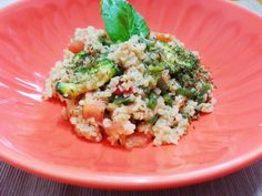 Bulghur con verdure http://www.lovecooking.it/primi-piatti-e-risotti/bulghur-con-verdure/